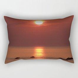 Halo Sunset Glow Rectangular Pillow