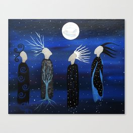 We All See the Same Moon by Jeanne Fry Canvas Print