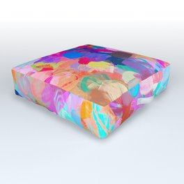 Candy Shop #painting Outdoor Floor Cushion
