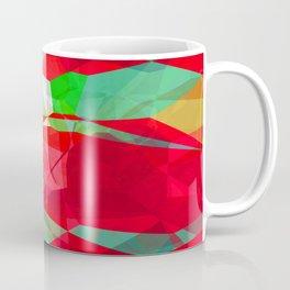 Mixed color Poinsettias 3 Abstract Polygons 2 Coffee Mug
