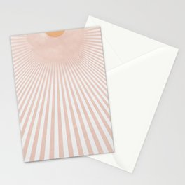Sunrise sunrise - light beams from the sun simple art Stationery Cards
