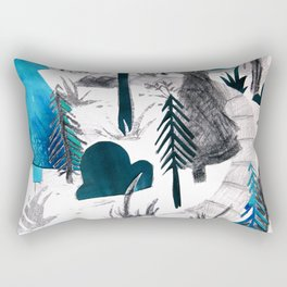 And the Children, They Know - Teal Rectangular Pillow