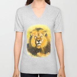 Magnificent Lion Unisex V-Neck