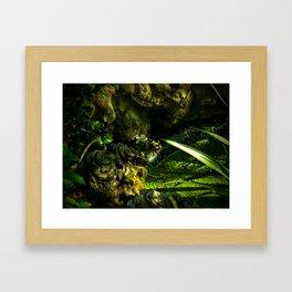 Cammo Frog Framed Art Print
