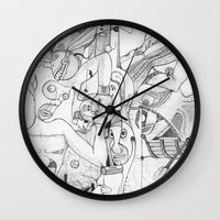 airplane Wall Clocks featuring Airplane by ℳajd