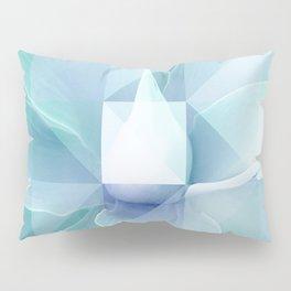 Soft Geo Agave - Aqua and blue Pillow Sham