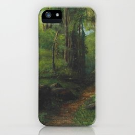 """Gustave Courbet """"Path through the Forest"""" iPhone Case"""