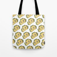 taco Tote Bags featuring Taco Buddy by Frenemy