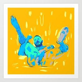 Blue is his color Art Print