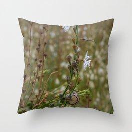 Grass Flowers Throw Pillow