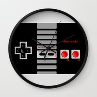 nintendo Wall Clocks featuring Nintendo Controller by Janismarika