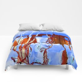Colossal Sea Blue Comforters