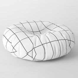 City Grid Floor Pillow