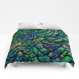 Preening Peacock Classic Comforters