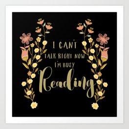 Busy Reading Art Print