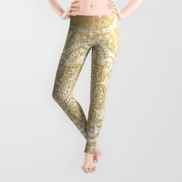 NATURE DETAILS MANDALA IN GOLD Leggings