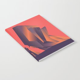 Futuristic Monuments Of Old Yugoslavia Notebook
