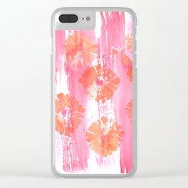 California Poppy Pop Clear iPhone Case