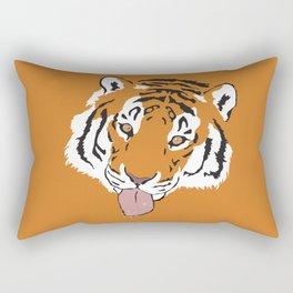 Snowflake Tiger Rectangular Pillow