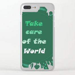 words,texts,world Clear iPhone Case