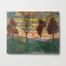 Four Trees - Egon Schiele Metal Print