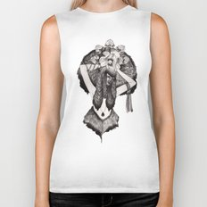 Capricorn - Black and White Biker Tank