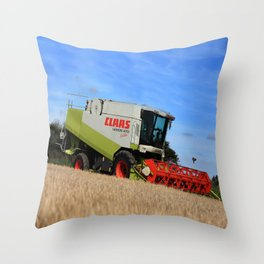 A Touch Of Claas 'Claas Lexion 470' Combine Harvester Throw Pillow