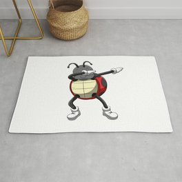 Dabbing Ladybug T Shirt Dab Beetles Dancing Pose Rug