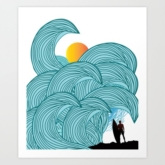 surfing 3 Art Print