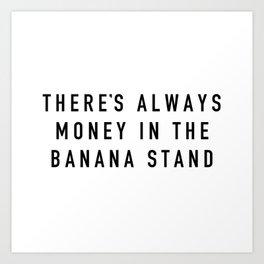 Banana Stand Art Print