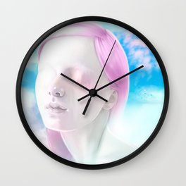 Ice Cream clouds Wall Clock