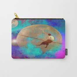 tightrope walker in Space Carry-All Pouch