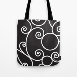 Parisian Scroll Tote Bag