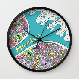Love Monsters Wall Clock