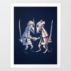 Sensei vs Sensei Art Print