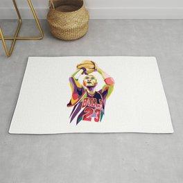 Jordan pop art Rug