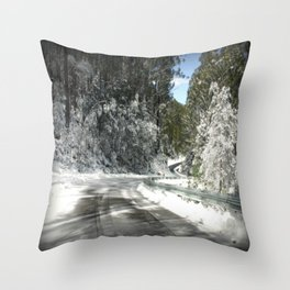 Winding road down Mt.Baw Baw Throw Pillow