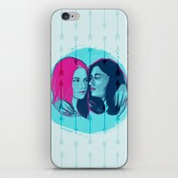 lydia martin iPhone & iPod Skins featuring TW - Allison and Lydia by days & hours