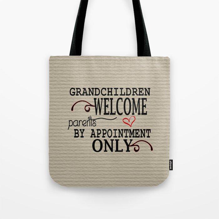 Grandchildren Welcome Tote Bag