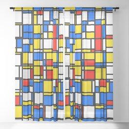 Mondrian Style 2 Sheer Curtain