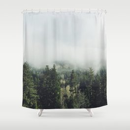 Foggy Treetops Shower Curtain