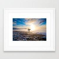 surfer Framed Art Prints featuring Surfer by joshuaveldstra