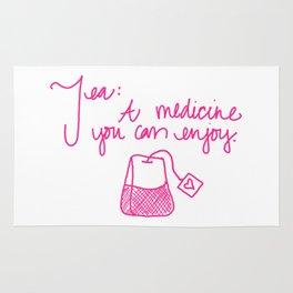Tea: A medicine you can enjoy. Rug