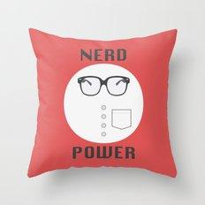 Nerd Power Throw Pillow