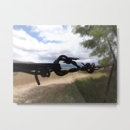 Snagged Metal Print