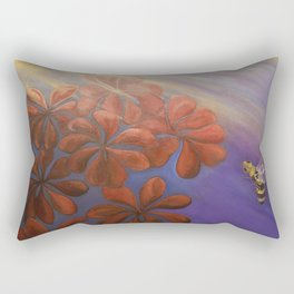 Geranium Bee Rectangular Pillow