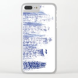 Energy brush strokes Clear iPhone Case