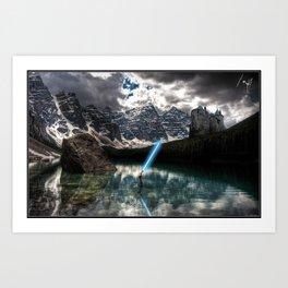Lady of the Lake (Lightsaber Version) Art Print