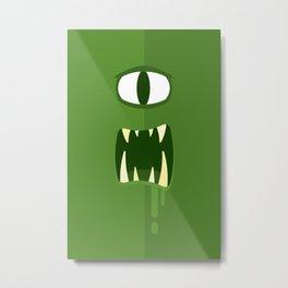 Green Eyed Monster Metal Print