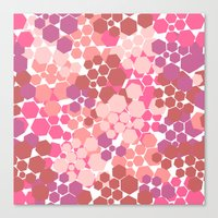 blush Canvas Prints featuring Blush by nandita singh